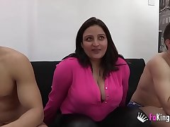 The girl only wanted to watch, but whe couldn'_t restrain when seeing Natalia getting it on with 6 cocks