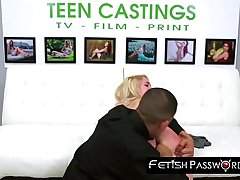 Young model slammed hard by big dicked casting agent