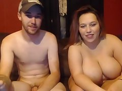 Girl with massive boobs sucks and fucks her guy