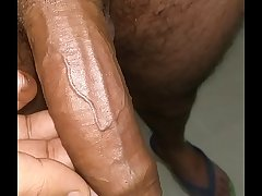 Indian guy oil massaged dick all nerves closeup look HD