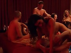 Real amateur couple ready to execute with other couples