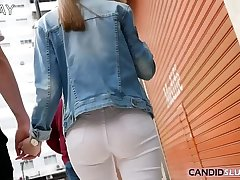 Tight Jeans and Thigh-Gaps in the Streets - CandidSluts.com Teaser