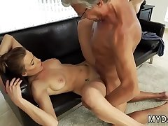 Daddy throat Sex with her boypatron&acute_s father after swimming pool