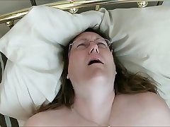 Fatty In Glasses VIbrating Their way Pussy For Bf'_s Pleasure