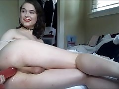 Attractive Tranny Dildoing Her Butthole In the long run b for a long time Masturbating