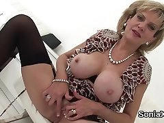 Unfaithful english mature lady sonia reveals her massive boobs