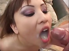 asian cum swallow bukkake and run to puke