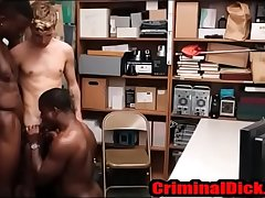 Black Thug fucked bareback by two horny cops