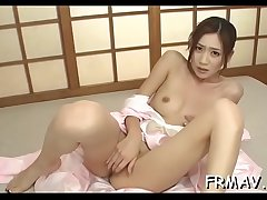 Cute japanese chick has a lusty fetish for penis engulfing
