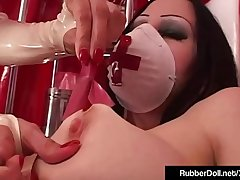 Crazy Klinic With RubberDoll - Succubus &amp_ Dental Sex Tools!