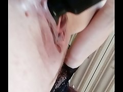 vibrator drives her pussy crazy