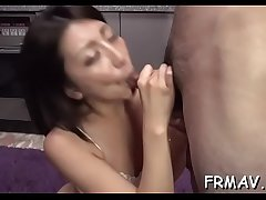 Delicious japanese chick tames a overshadow 10-pounder in the matter of blowjob