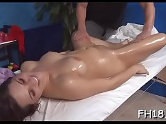 Hotty next door facialed by her massage therapist