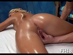 Wacko slut takes wang from her massage therapist
