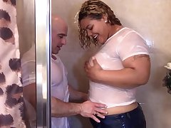Big Latina Booty grinding on blanched dick in shower till they cum
