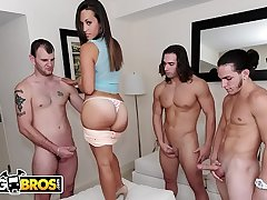 BANGBROS - PAWG Kelsi Monroe Takes Three Big Dig up Like A Champ
