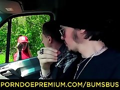BUMS BUS - Sexy alternative German delivery babe Kylie Kay gets drilled in the van