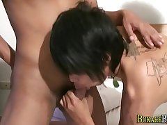 Asian twink cum drizzled