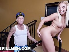 BLUE PILL MEN - Young Kenzie Green Gets Fucked By A Couple Of Dirty Old Men