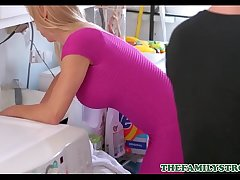 Sexy Blonde MILF Step Mom Alexis Fawx Fucked To Orgasm By Step Son In Laundry Room