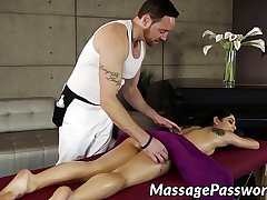 Oily lady Gina Valentina got say no to hairy love tunnel smashed
