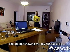 Skinny African Amateur Gives Very Messy Blowjob